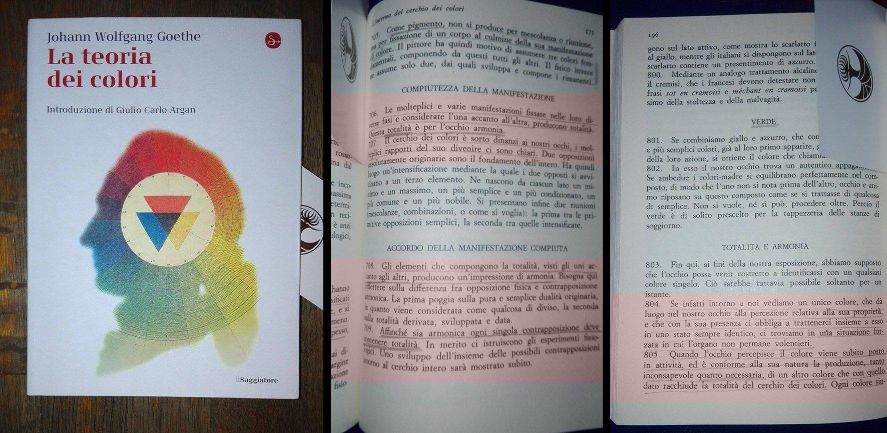 La conoscenza dei materiali (e del colore).