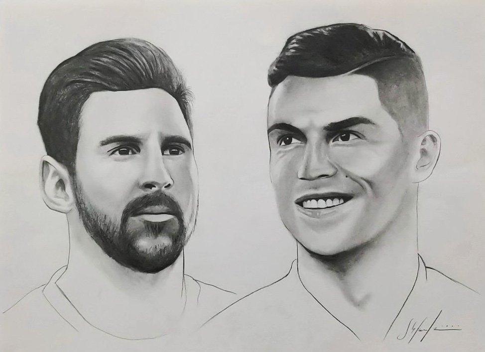 Two Hands – Messi & Cristiano Ronaldo